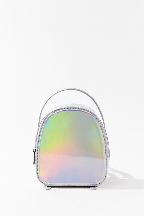 HOLOGRAPHIC Iridescent Mini Backpack, image 1