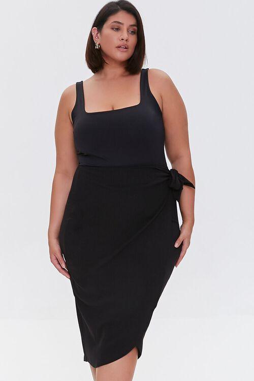 Plus Size Tulip-Hem Skirt, image 1