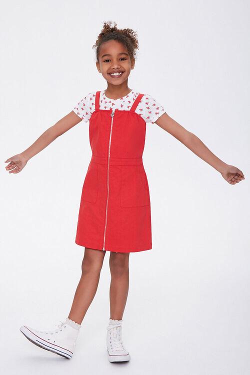 Girls Zip-Front Dress (Kids), image 3