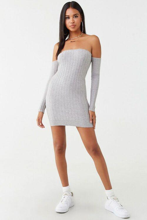 Ribbed Off-the-Shoulder Mini Dress, image 4