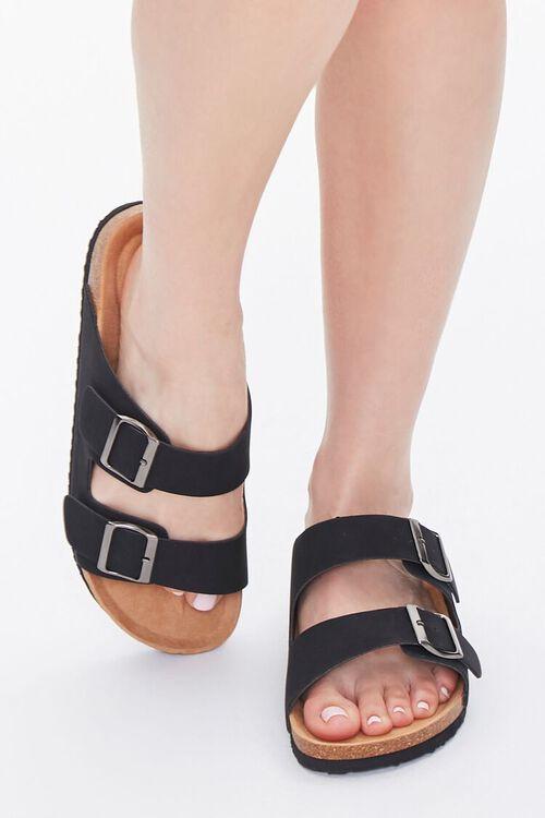 Buckled Flatform Sandals (Wide), image 4