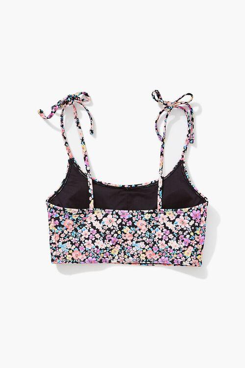 Floral Print Self-Tie Bralette Bikini Top, image 2