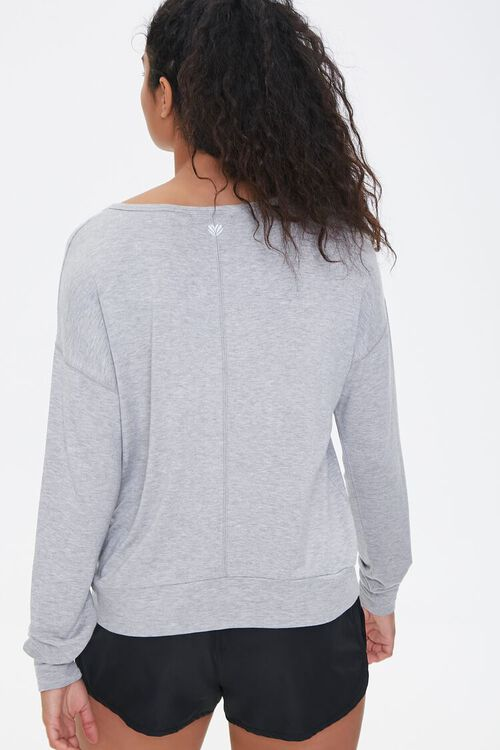 Active Heathered Knit Top, image 3