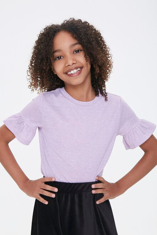Girls Ruffled-Sleeve Tee (Kids), image 1
