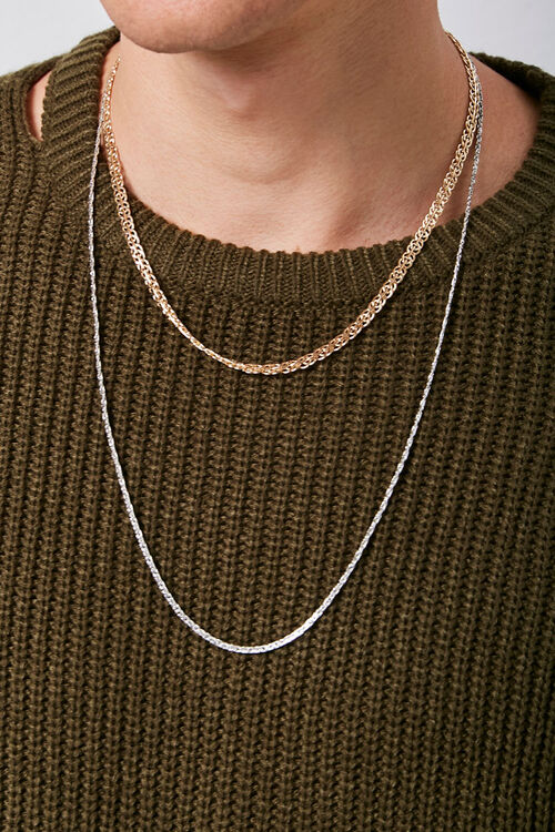 Layered Chain Necklace Set, image 1