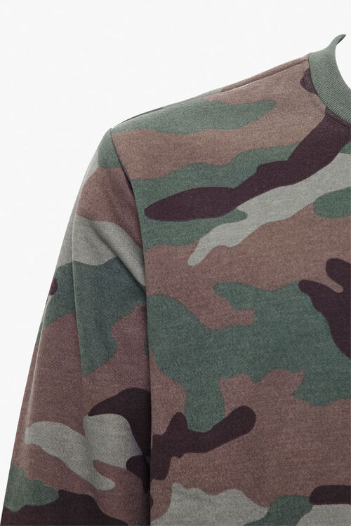 Camo Print Knit Sweater, image 3