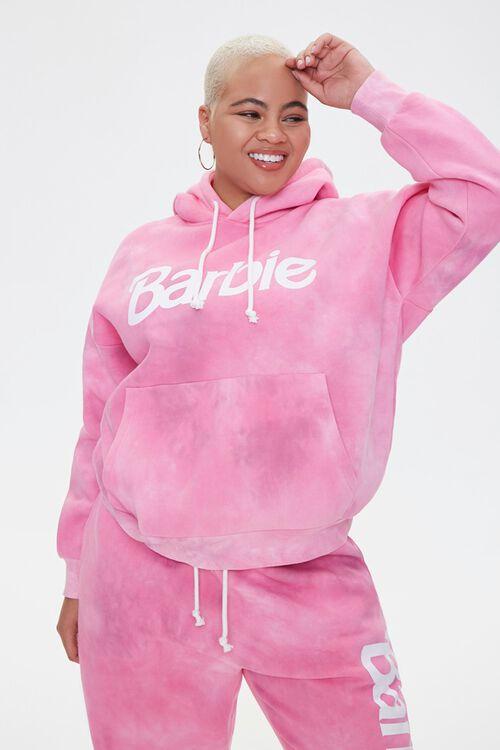 PINK/MULTI Plus Size Tie-Dye Barbie™ Hoodie, image 2