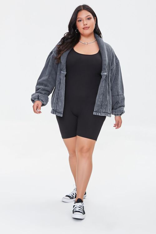 BLACK Plus Size Mineral Wash Jacket, image 4