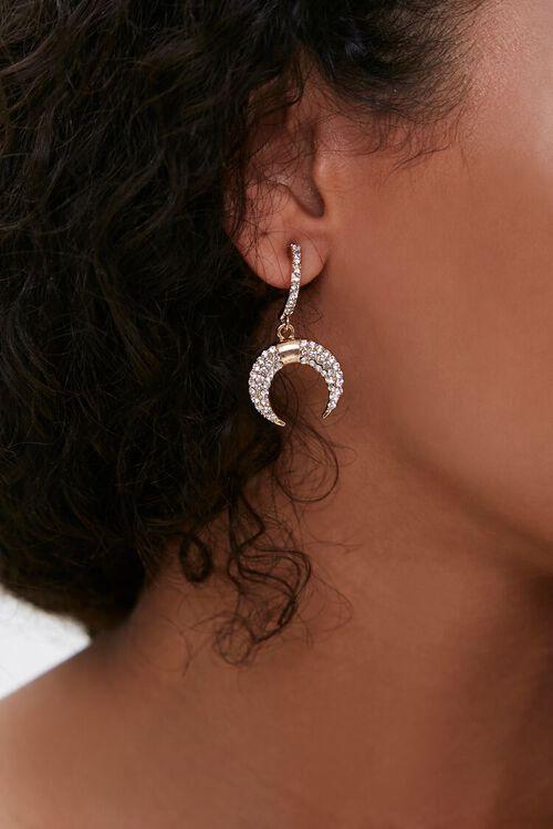 Rhinestone Pendant Drop Earrings, image 1