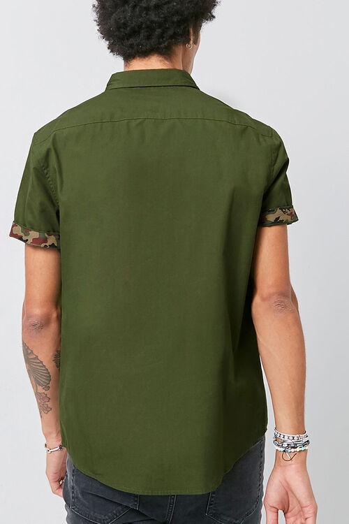 Classic Fit Camo-Trim Shirt, image 3