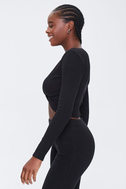 Ribbed Twist-Front Top, image 2