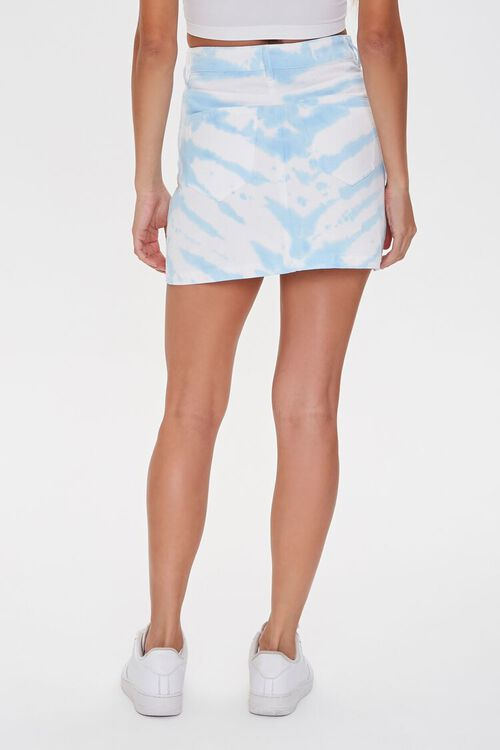 WHITE/BLUE Tie-Dye Mini Skirt, image 4