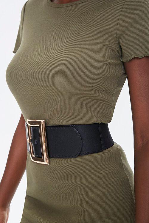 Faux Leather Wide Waist Belt, image 2