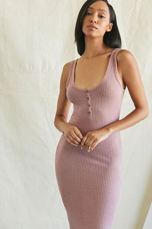 MAUVE Ribbed Knit Tank Top Dress, image 4