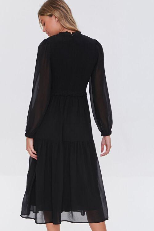Smocked Peasant-Sleeve Dress, image 3