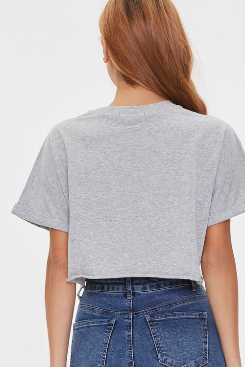 Cropped Cotton Crew Tee, image 3