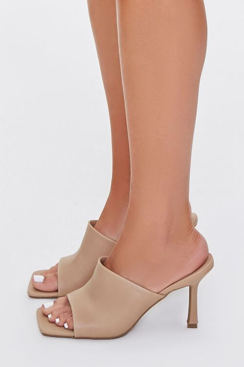 Faux Leather Square-Toe Heels, image 2