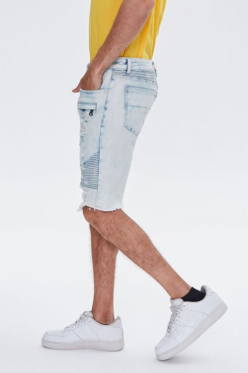 Distressed Denim Moto Shorts, image 3