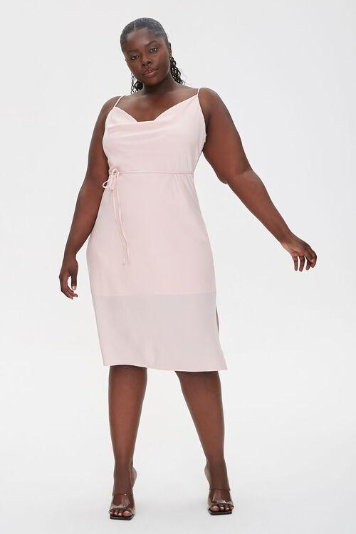 Plus Size Cowl Neck Cami Dress, image 4