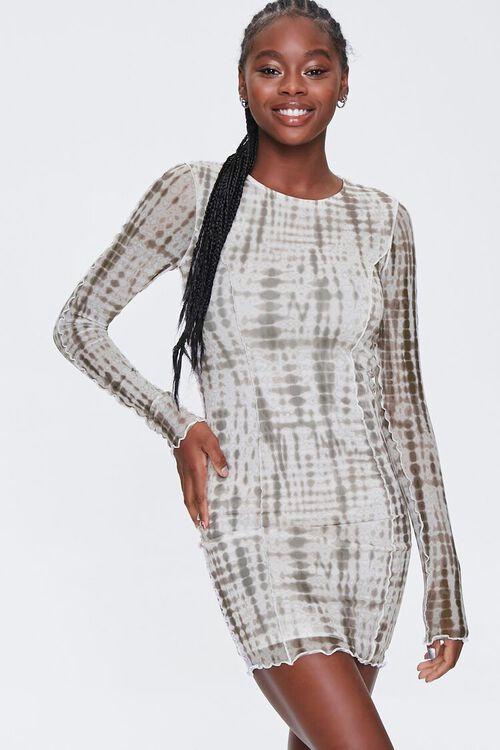 Tie-Dye Bodycon Mini Dress, image 1