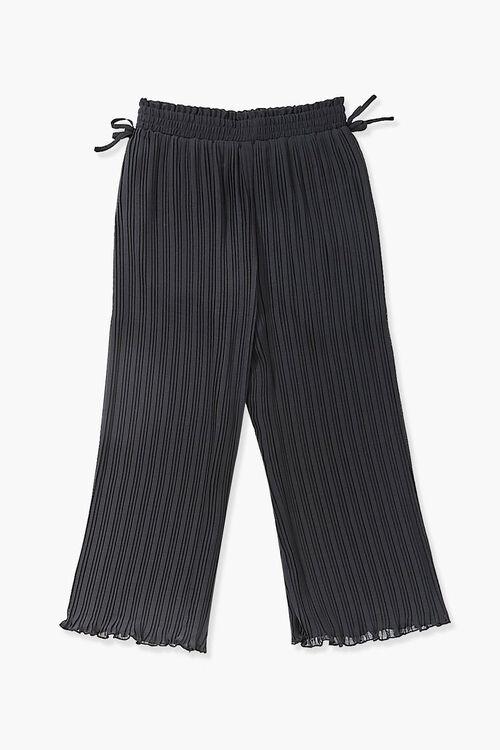 Girls Crinkled Wide-Leg Pants (Kids), image 2