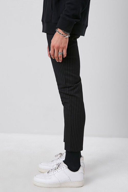 Striped Slim-Fit Ankle Trousers, image 3