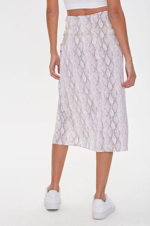 GREY/MULTI Snake Print Slit Skirt, image 4