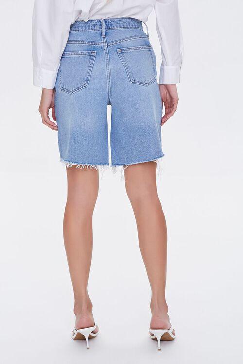 Distressed Denim Bermuda Shorts, image 4