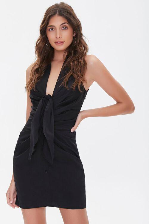Sleeveless Bow Shirt Dress, image 1