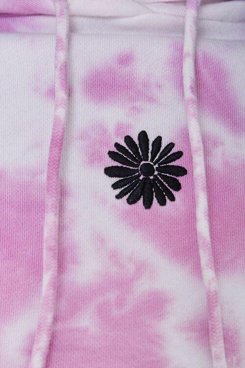 WHITE/PINK Tie-Dye Floral Hoodie, image 6