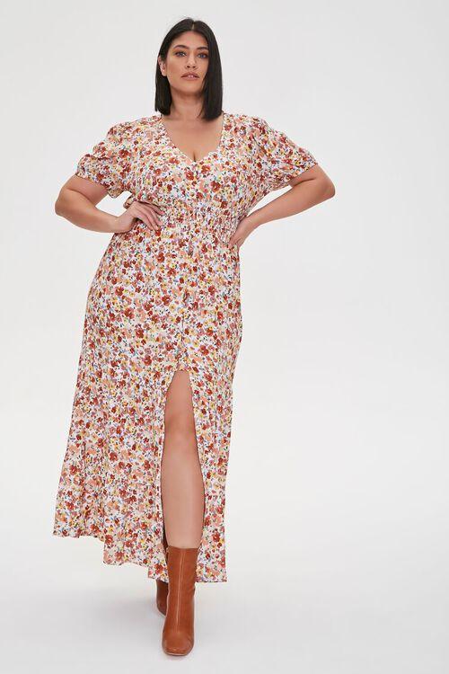 Plus Size Floral Print Maxi Dress, image 5