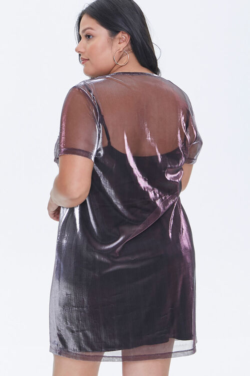 Plus Size Metallic T-Shirt Dress, image 3