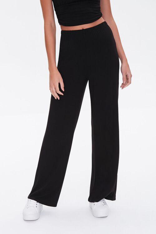 Knit High-Waisted Pants, image 2
