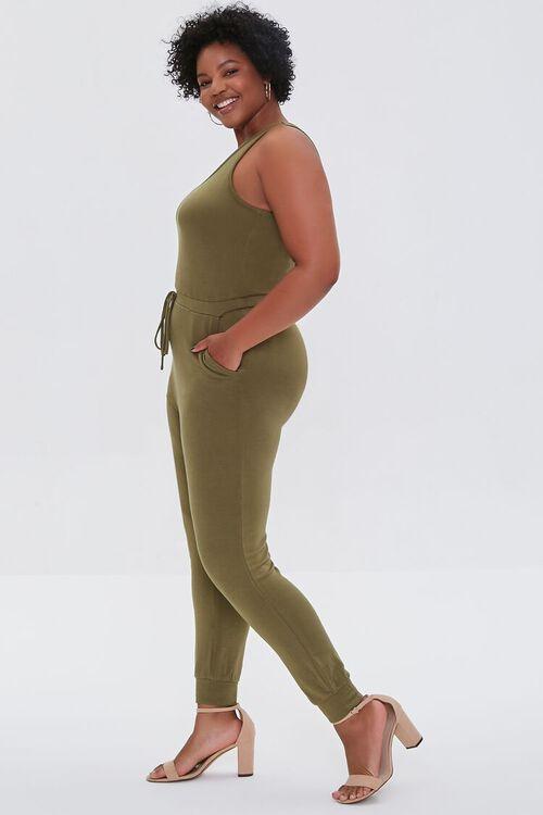 Plus Size Fleece Tank Jumpsuit, image 2
