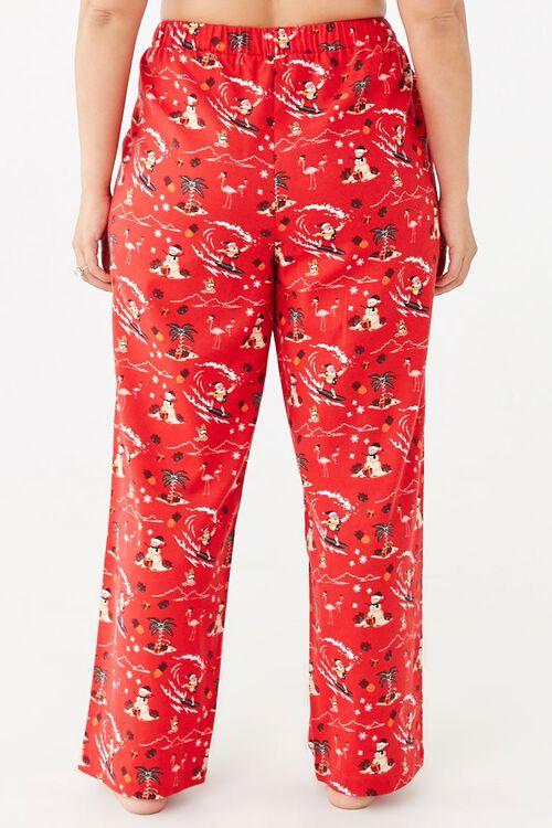 Plus Size Santa Pajama Pants, image 4