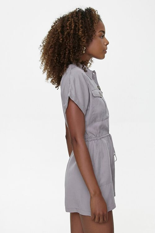 Button-Front Drawstring Romper, image 2