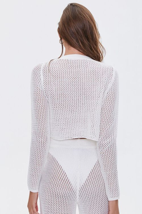 Sheer Netted Cardigan Sweater, image 3