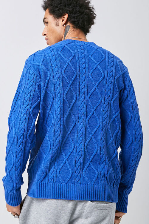 Cable-Knit Crew Neck Sweater, image 3