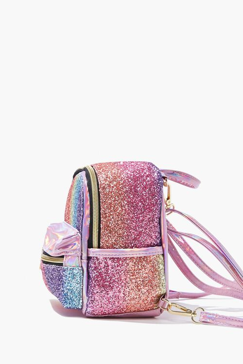 Girls Metallic Glitter Backpack (Kids), image 2