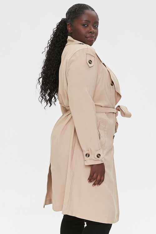 Plus Size Double-Breasted Coat, image 2