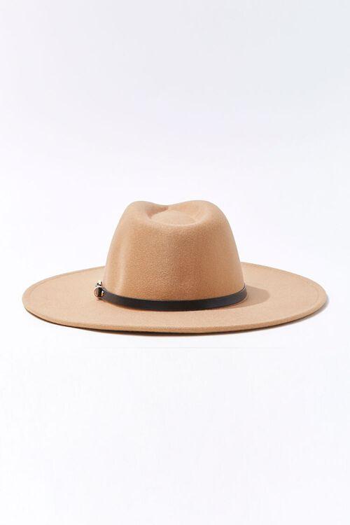 Faux Leather-Trim Fedora, image 3