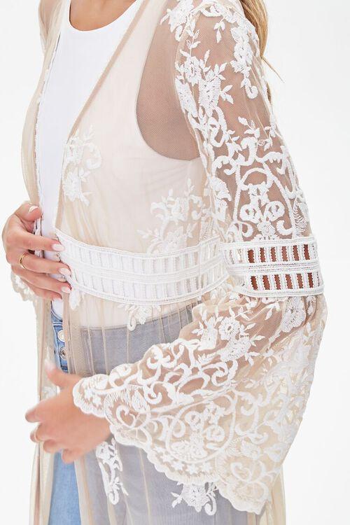 Sheer Embroidered Longline Kimono, image 5