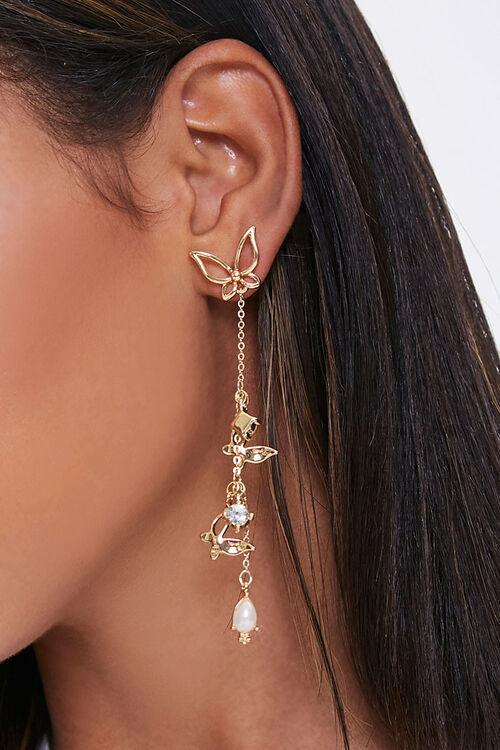 Butterfly Drop-Chain Earrings, image 1