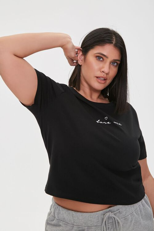 Plus Size Adore Me Graphic Tee, image 1