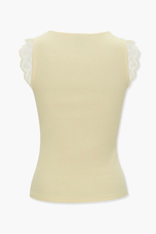 Lace-Trim Ribbed Tank Top, image 3
