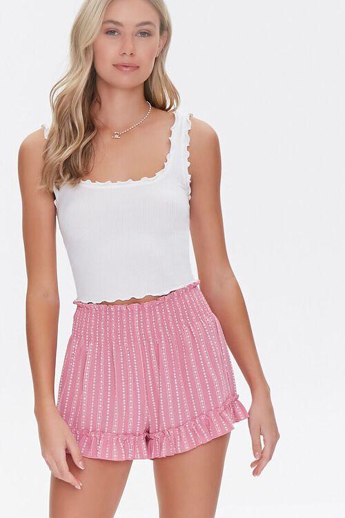 Ornate Ruffle-Trim Shorts, image 1