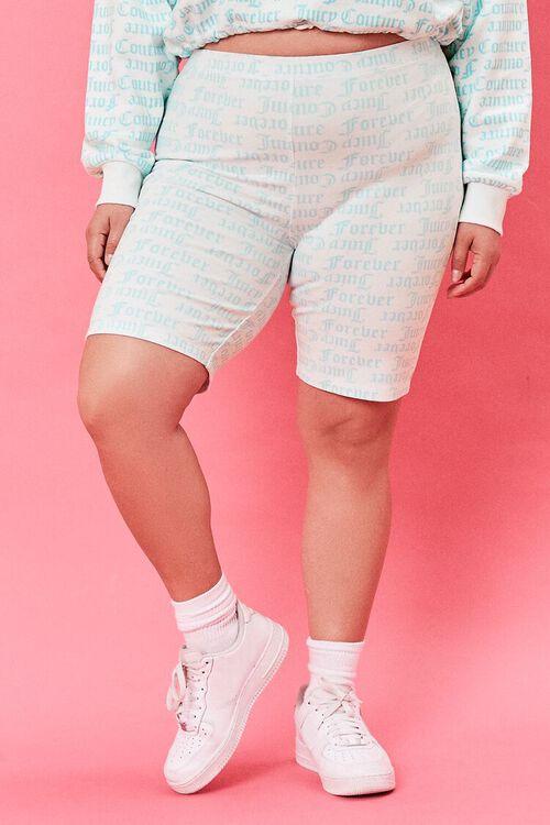 Plus Size Juicy Couture Biker Shorts, image 2