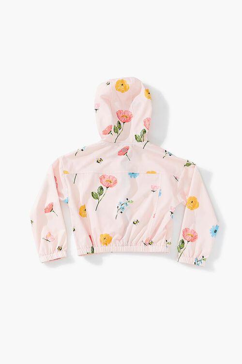 PINK/MULTI Girls Floral Zip-Up Windbreaker (Kids), image 2