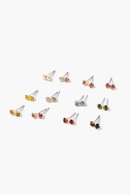 Faux Gem Stud Earring Set, image 1