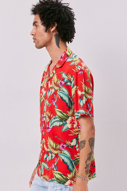 RED/MULTI Classic Fit Tropical Print Shirt, image 2